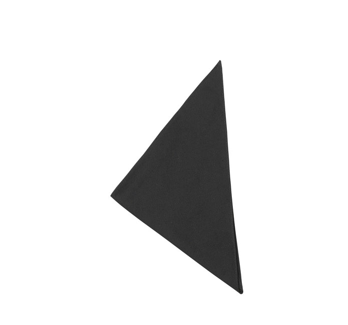 FAZZOLETTO CUOCO BLACK POL.65 COT.35 H.38105