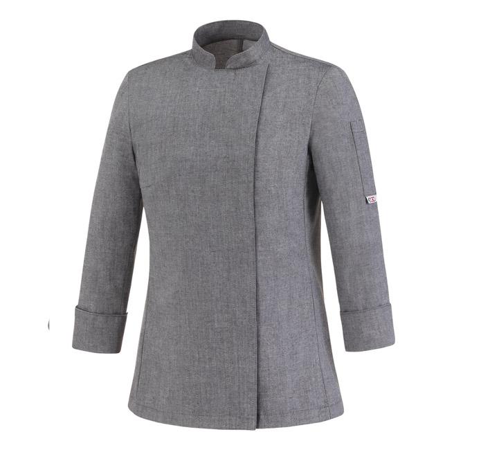 giacca-da-cuoco-donna-grey-Mix--cot-e-pol