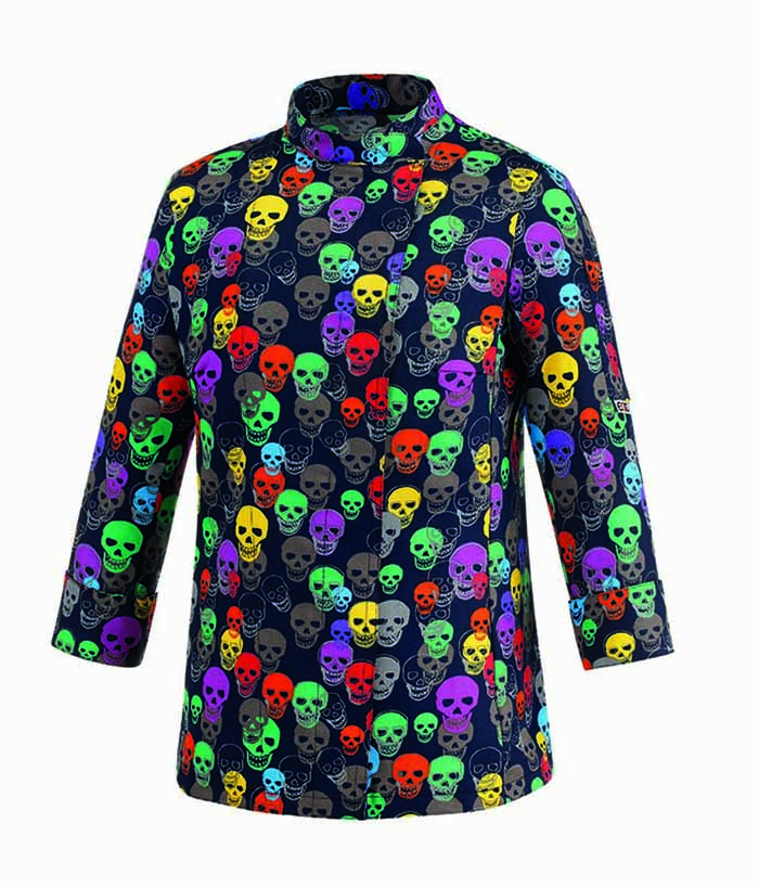 GIACCA CUOCO COLOR SKULLS WOMAN COT.100% 45 euro