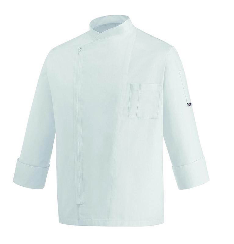 GIACCA CUOCO WHITE ZIP MICROFIBER 100% 35 euro