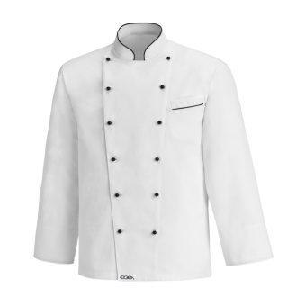 dailymall Abiti da Chef Manica Corta Cappotto da Cuoco Unisex Traspirante Giacca da Lavoro dal Cameriere